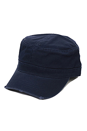 OTTOCAP/오토캡 Garment Washed Distressed Military Cap (Navy)