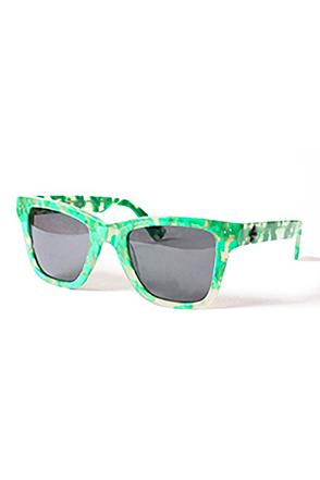 """SKULLS/스컬스 Stanley ''Tortuga"""""""" Eyewear (Green/Green/Black)"""