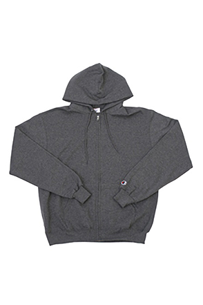 Champion/챔피언 S800 9 oz., 50/50 Eco Full-Zip Hooded Fleece (Charcoal Heather)