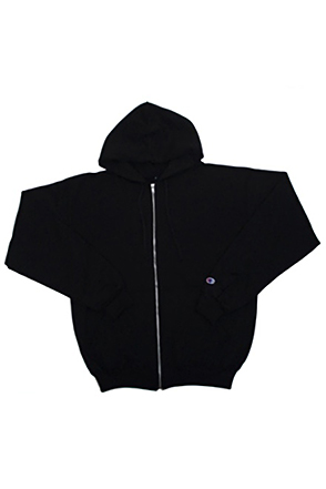 Champion/챔피언 S800 9 oz., 50/50 Eco Full-Zip Hooded Fleece (Black)