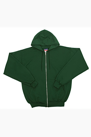 Champion/챔피언 S800 9 oz., 50/50 Eco Full-Zip Hooded Fleece (Dark Green)