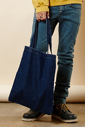 SIMPLE BLUE ECHO BAG 무지 심플 청 에코 백 [2color / one size]