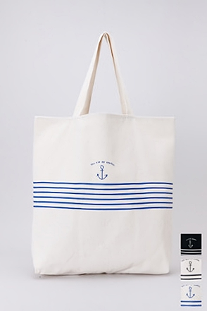 ANCHOR STRIPE ECHO BAG앵커 스트라이프 에코백[3color / one size]