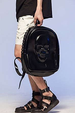 SOLID SKULL BACKPACK3D 입체 스컬 백팩[one color / one size]