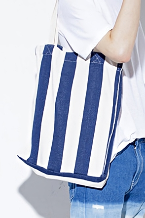 SUN STRIPE ECO BAG스트라이프 에코백3color / one size]
