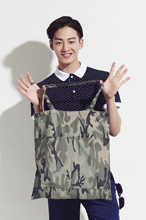 MILITARY TOTE BAG카모플라쥬 패턴의 토드백[one color / one size]