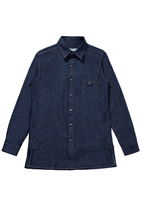 AWESOME IMAGINATIONWASHED DENIM WORK SHIRTSDark Blue