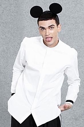 IRONY PORN(O) Loose Fit Banding Shirt
