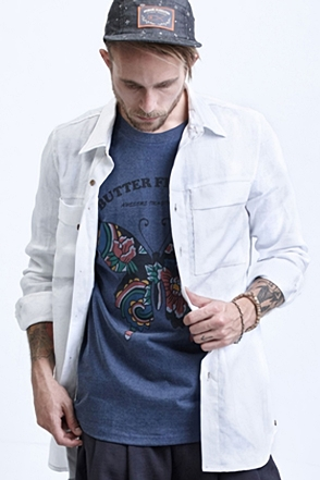 AWESOME IMAGINATION LINEN WHITE LOOSE-FIT SHIRTS White