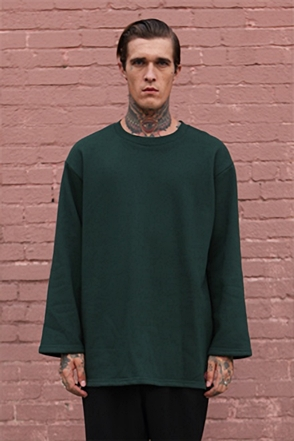 IRONY PORN(O) Patrick Oversize Zipper Split Side Sweatshirt Green