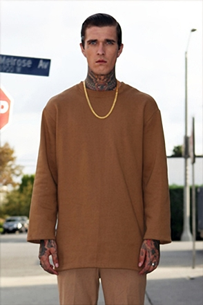IRONY PORN(O) Patrick Oversize Zipper Split Side Sweatshirt Brown
