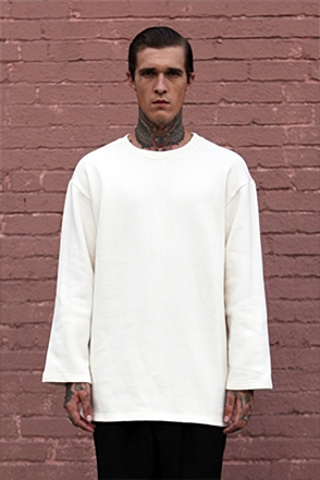 IRONY PORN(O) Patrick Oversize Zipper Split Side Sweatshirt Ivory