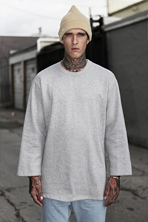 IRONY PORN(O) Patrick Oversize Zipper Split Side Sweatshirt Gray