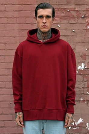 IRONY PORN(O) Tera Oversize Zipper Split Side Hoody Wine