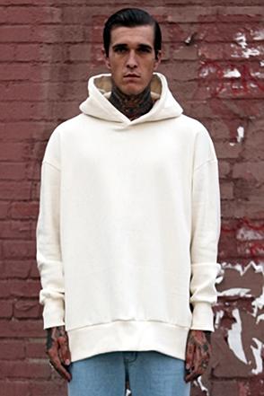 IRONY PORN(O) Tera Oversize Zipper Split Side Hoody Ivory