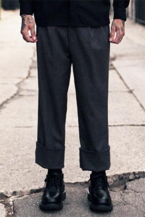 IRONY PORN(O) Sasha Grey Roll-up Wool Pants