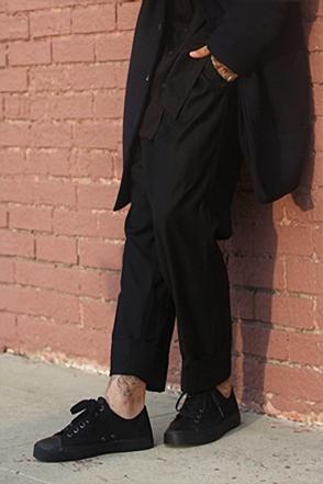 IRONY PORN(O) Zena Plits Detail Basic Wool Pants