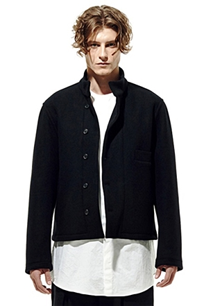 IRONY PORN(O) Wool China Collar Bomber Jacket
