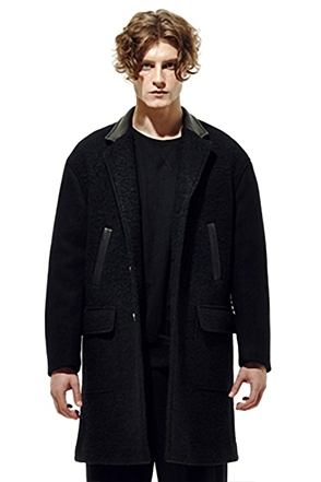 IRONY PORN(O) Leather Contrast Coat