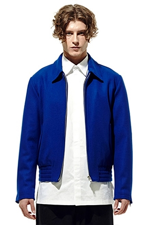 IRONY PORN(O) Royal Blue Bomber Jacket