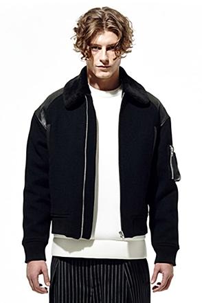 IRONY PORN(O) Contrast MA-1 Jacket