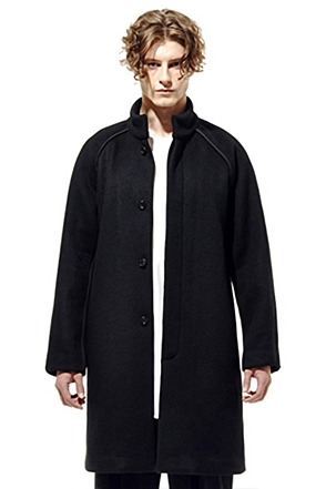 IRONY PORN(O) Black Line Detail Coat