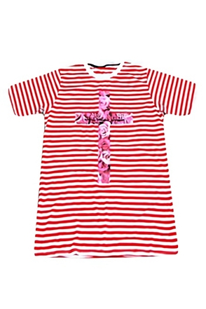Surgical Steel/써지컬스틸 STRIPE ROSE T-SHIRTS_RED 15SSTS01RD(RED)