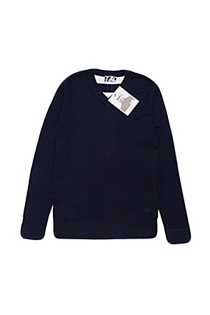 Skulllism/스컬리즘 BACK-LINE KNIT (Navy)  50% SALE