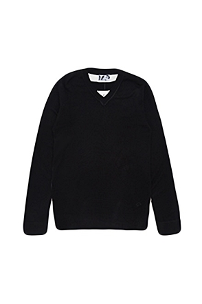 Skulllism/스컬리즘 BACK-LINE KNIT (Black)  50% SALE