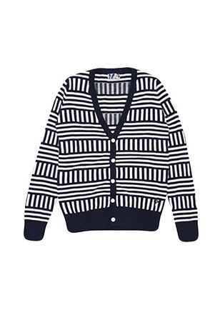 Skulllism/스컬리즘  STRIPE CARDGAN (Navy)  50% SALE