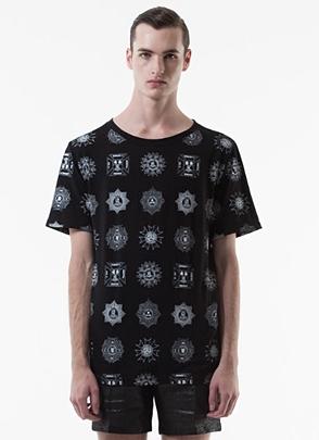 IRONY PORN(O) VOYEUR LABELMedal T-shirt(B)