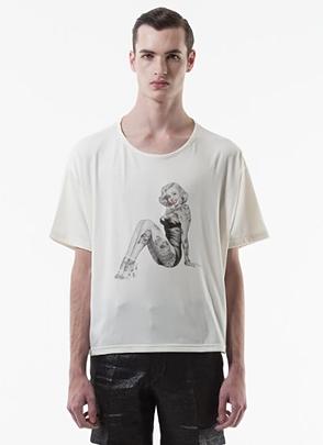 IRONY PORN(O) VOYEUR LABELTattoo Pin-up Girl T-shirt(I)