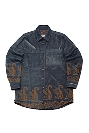 AWESOME IMAGINATIONPAISLEY NEEDLEWORKLOOSE-FIT SHIRTSDark Blue