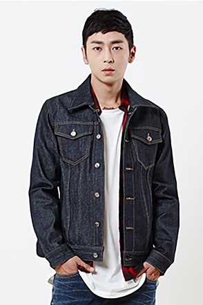 SIMPLE DEEP DENIM JACKET심플 생지 투포켓 데님 자켓[one color / 2size]