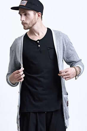 AWESOME IMAGINATION PRIME LINEN CARDIGAN Gray