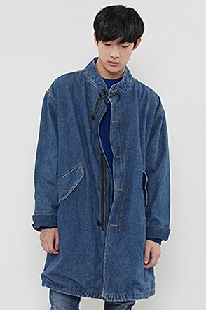 DENIM FIELD JACKET 데님 개파카 [2color / one size]