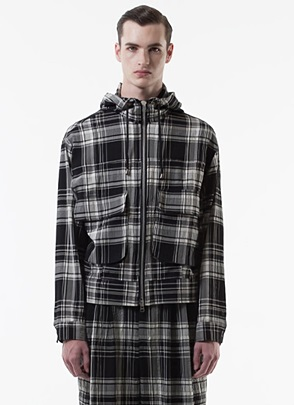 IRONY PORN(O) VOYEUR LABELCheckered Zip-up Hoody
