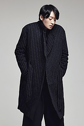 STRIPE BELT LOOP LONG COAT스트라이프 롱코트[2color / one size]