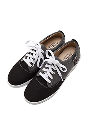 Two-Tone Side Lace Detailed Sneakers