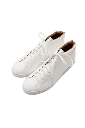 Synthetic Leather High-Top Sneakers