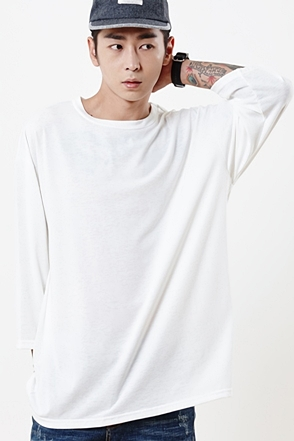 SIMPLE BOX 3/4 T-SHIRTS 심플 박스 9부티 50% SALE [5color / one size]