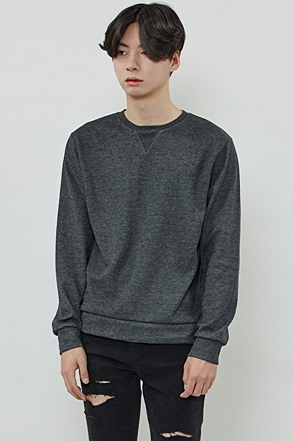 Soft Cotton Sweatshirt with Triangle Detail